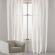 WALDORF SHEER CUSTOM MAKE CURTAINS WHITE | Designer Pick