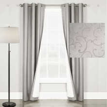 Swirl Blockout Eyelet Curtain Silver Grey | Sold Out!