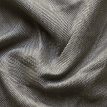Mountain : Linen Look Blockout Curtain Fabric Charcoal