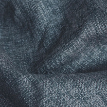 Denver: Navy Blue Soft drape Two Coloured Linen Look Blockout Curtain Fabric