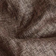 Denver: Chocolate Soft drape Two Coloured Linen Look Blockout Curtain Fabric