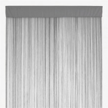 GREY FRINGE STRING CURTAIN PANEL