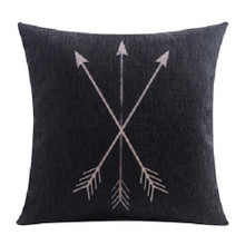 Black Arrow Linen Cushion Cover 45cm x 45cm | Sold Out!