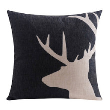 Black Deer Cushion Cover 45cm x 45cm | Sold Out!