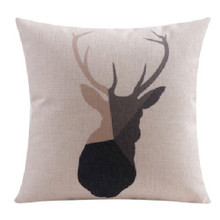 Elk Cushion Cover Black and Taupe 45cm x 45cm Sold Out!