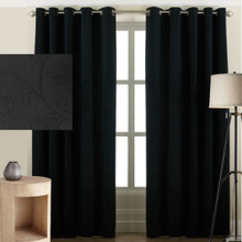 Cantina Eyelet Black curtains