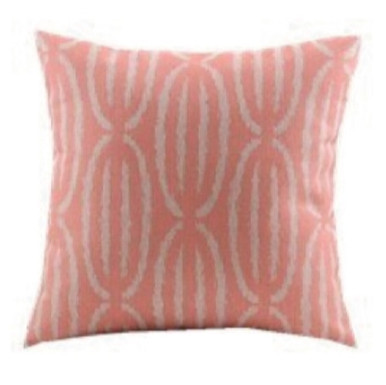 Dusty Pink and White geo cushion cover 45cm x 45cm
