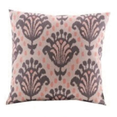 Dusty Pink and Grey Damask Cushion Cover 45cm x 45cm
