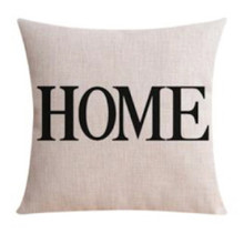 "Word ""Home"" Linen Cushion Cover 45cmx 45cm"