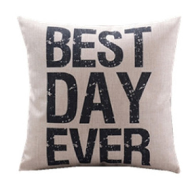 Best Day Ever Cushion Cover 45cm x 45cm