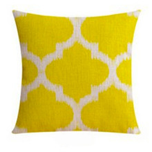 Yellow Moroccan Linen Cushion Cover 45cm X 45cm