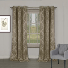 Venice Damask Blockout Eyelet Curtain LATTE | Sold Out!