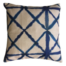 Shibori Indigo Diamond Cushion Cover 45cm x 45cm | Sold Out!