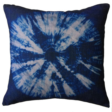 Shibori Indigo TIE DYE Cushion Cover 45cm x 45cm | Sold Out!