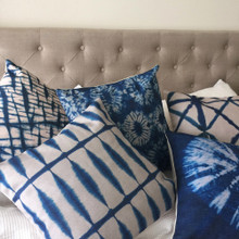 Shibori Indigo Cushion Covers