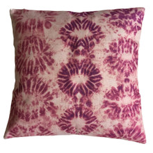 Shibori Dusty Pink Knot Cushion Cover 45cm x 45cm