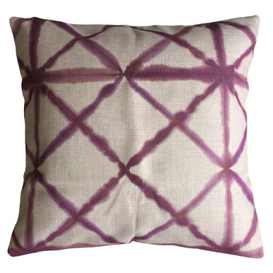 Shibori Pink Diamond Cushion Cover 45cm x 45cm
