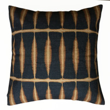 Shibori Charcoal and Bronze Cushion Cover 45cm x 45cm