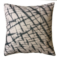 Shibori Graphite Crinkle Cushion Cover 45cm x 45cm