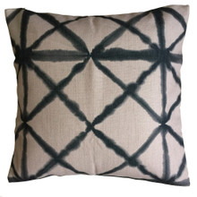 Shibori Graphite Diamond Cushion Cover 45cm x 45cm