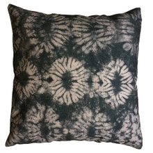 Shibori Graphite Knots Cushion Cover