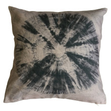 Shibori Graphite TIE DYE Cushion Cover 45cm x 45cm