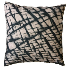 Shibori Licorice Crinkle Cushion Cover 45cmx 45cm