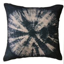 Shibori Licorice TIE DYE Cushion Cover 45cm x 45cm