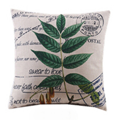 Basil Leaves Cushion Cover