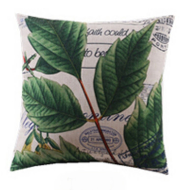 Mint Leaves Cushion Cover