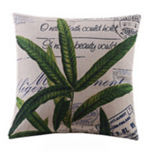Green Herb Leaves Cushion Cover