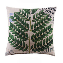 Green Herb Plant Cushion Cover