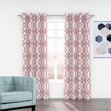 Linda Jacquard Eyelet Curtain Pink
