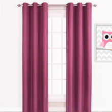 ASPEN Kid's Blockout Eyelet Curtain Panels PINK
