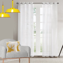 CRISP SHEER soft drape eyelet curtain panel white | Sold Out!