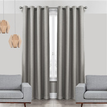 COLORADO Linen Look Thermal Weave Blackout Curtain Panel GREY | New |  4 Sizes!