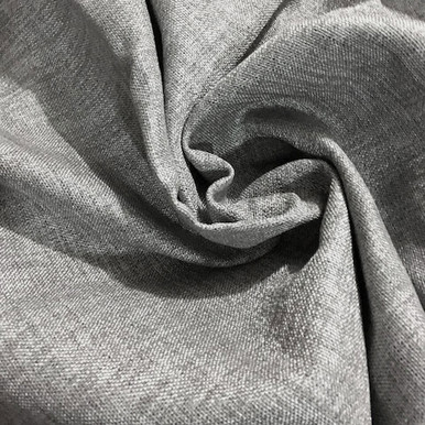 COLORADO Linen Look Thermal Weave Blackout Fabric Swatch GREY