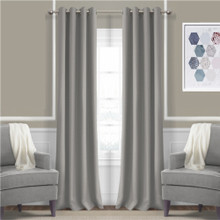 JAMES Thermal Triple Weave Eyelet Curtain Panel 140cm x 221cm DOVE GREY | Sale!