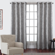 Alyssa Eyelet Decorator Curtains GREY   New