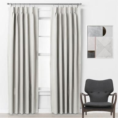 Bond 250cm Drop Pinch Pleat Room Darkening Soft Drape Curtains EGGSHELL | 3 Sizes!