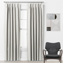 Bond 250cm Drop Pinch Pleat Room Darkening Soft Drape Curtains EGGSHELL | 3 Sizes!