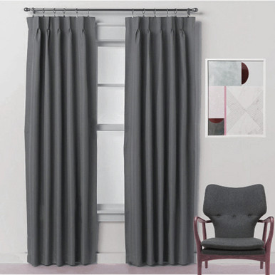 pair pleated drapes pinch window solid set callanan curtain of pleat sheer panel treatments wayfair curtains