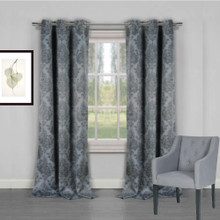 Venice Blockout Damask Eyelet Curtain GREY | Sold Out!