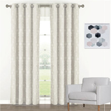 Florentino Blockout Eyelet Curtain Panels Ecru