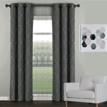 Florentino Blockout Eyelet Curtain Charcoal Grey | Sold Out!