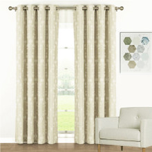 Florentino Blockout Eyelet Curtain Panels Cream