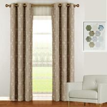 Florentino Blockout Eyelet Curtain Reverse Fabric Latte
