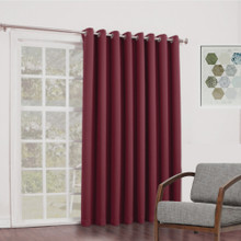 BOND Room Darkening Soft Drape Eyelet Curtain Panel BURGUNDY   New!  4 Sizes!