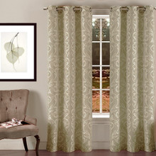 SURREY HILLS Blockout Eyelet Jacquard Curtains SAGE | Sold Out!