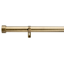 End Cap Extendable Curtain Rod Antique Brass Gold